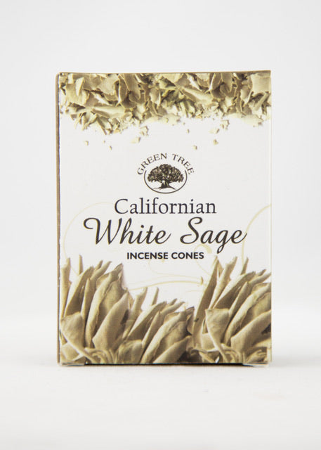 Green Tree Californian White Sage Incense Cones