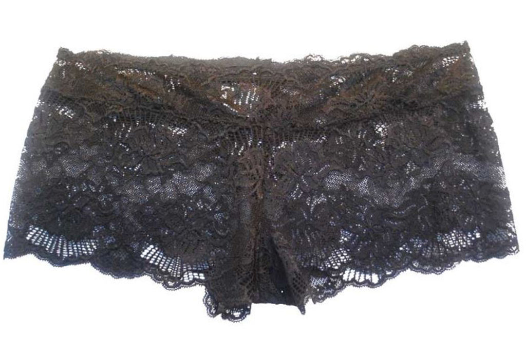 Ariana — Black Lace Boyshort