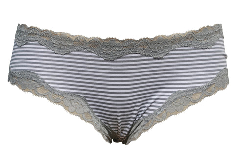 Mia — Grey Cotton Hipster with Lace Waistband Women s Underwear ... 635fae2fe
