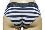 Mia — Navy and White Striped