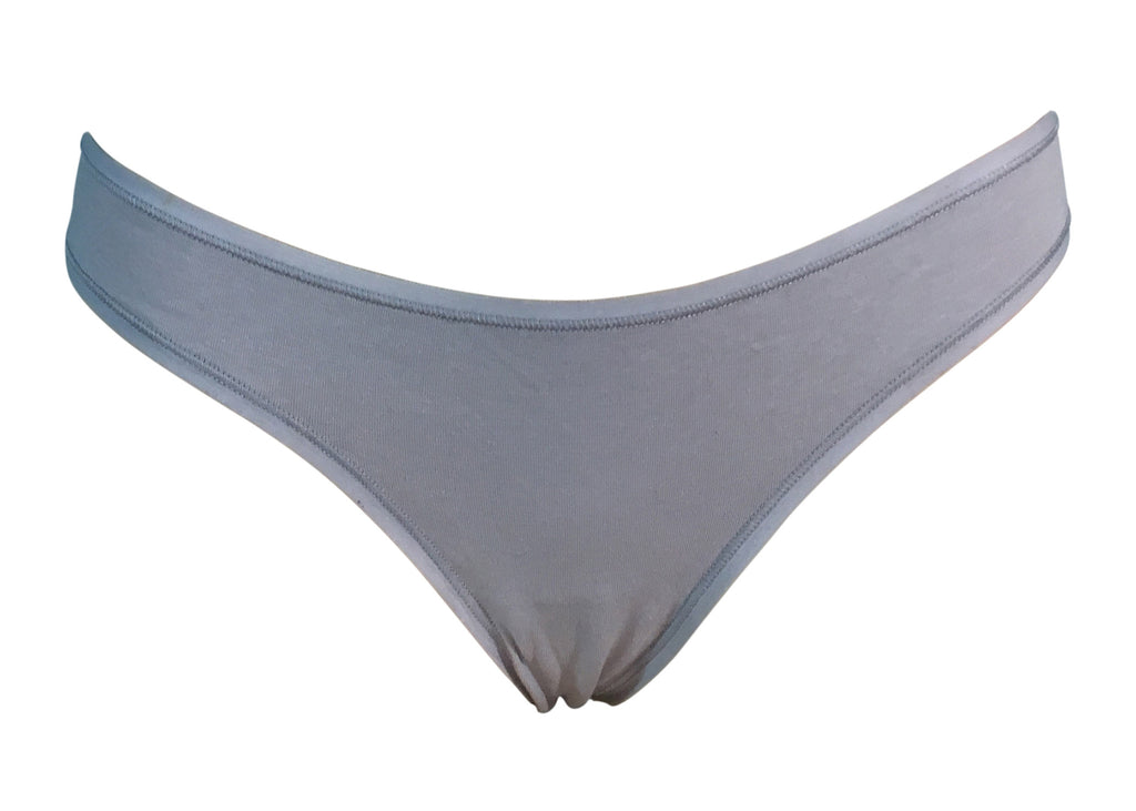 Light grey cotton thong