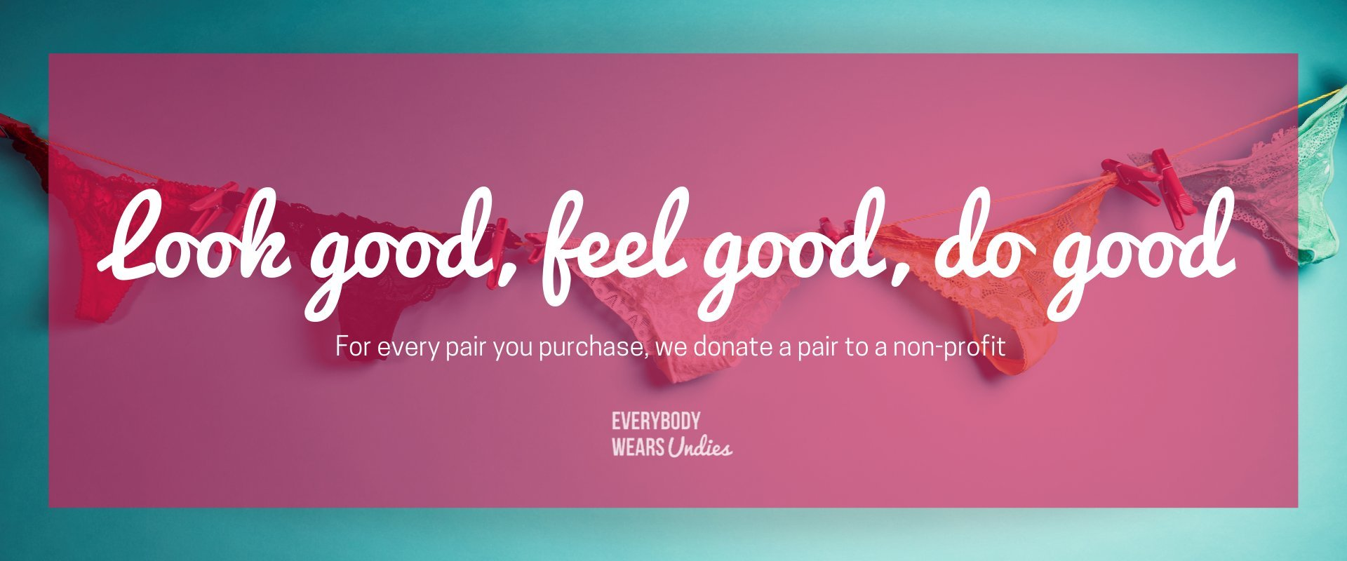 Look good, feel good, do good. For every pair you purchase, we donate a pair to a non-profit.