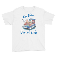 Secord Lake On Pontoon Youth Short Sleeve T-Shirt