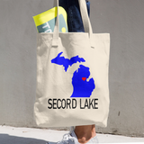 Secord Lake Michigan Cotton Tote Bag