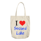 Secord Lake I Heart Cotton Tote Bag