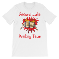 Secord Lake Drinking Team (3) short sleeve t-shirt