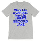 Secord Lake Captain Blue Short Sleeve T-shirt