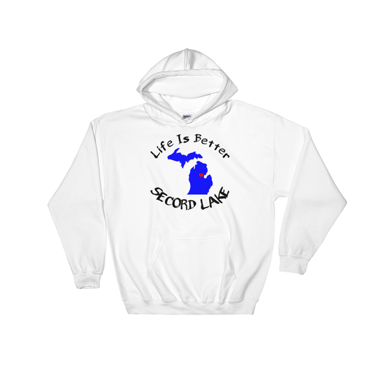 Secord Lake Map Life Hooded Sweatshirt