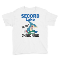 Secord Lake Shark Free Youth Short Sleeve T-Shirt