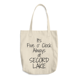 Secord Lake 5 O clock Cotton Tote Bag