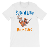 Secord Lake Deer Camp 3 short sleeve t-shirt