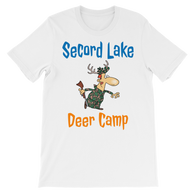 Secord Lake Deer Camp 6 short sleeve t-shirt