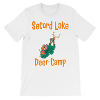 Secord Lake Deer Camp 4Unisex short sleeve t-shirt