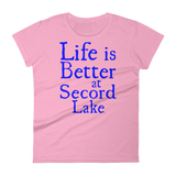 Secord Lake Life Better Women's short sleeve t-shirt