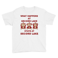 Secord Lake Stays At Monkeys Youth Short Sleeve T-Shirt