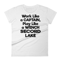 Secord Lake Wench Blk Women's short sleeve t-shirt