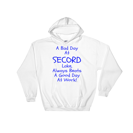 Secord Lake Bad Day Blue Hooded Sweatshirt