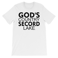 Secord Lake God's Country short sleeve t-shirt