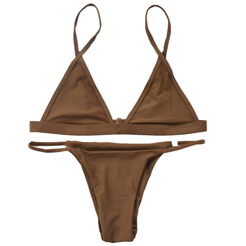 Basic Bikini in Khaki Brown