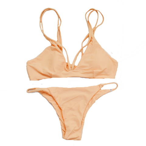 Moonlight Bikini Set in Pink Beige