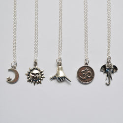 Charm Sterling Silver Necklace
