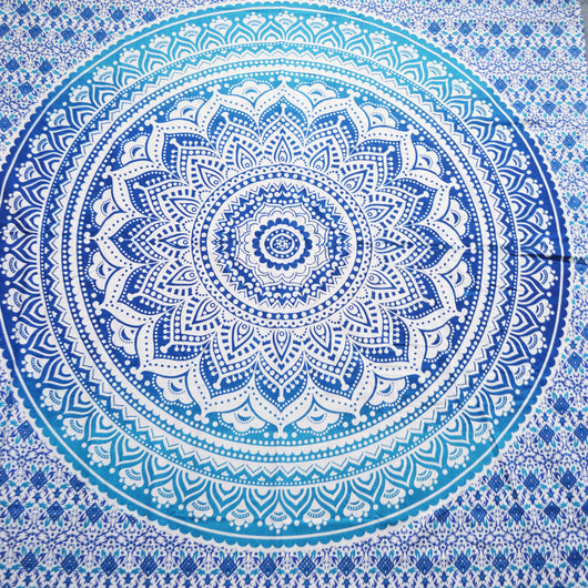 Blue Ombre Bedspread Single Size