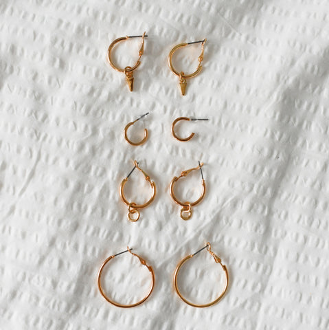 Gold Hoops Set