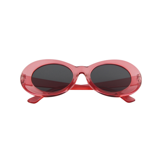 Cobain Sunglasses in Clear Red