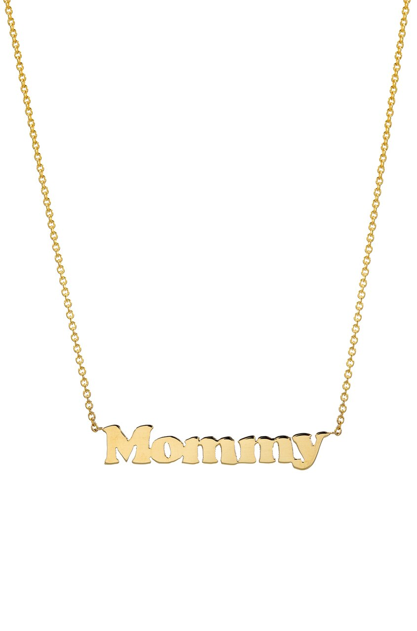 14k gold mommy necklace