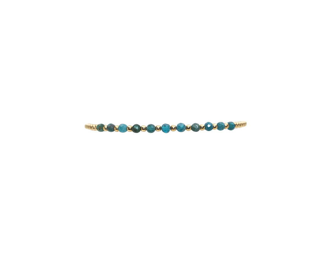 2mm yellow gold filled bracelet with apatite pattern