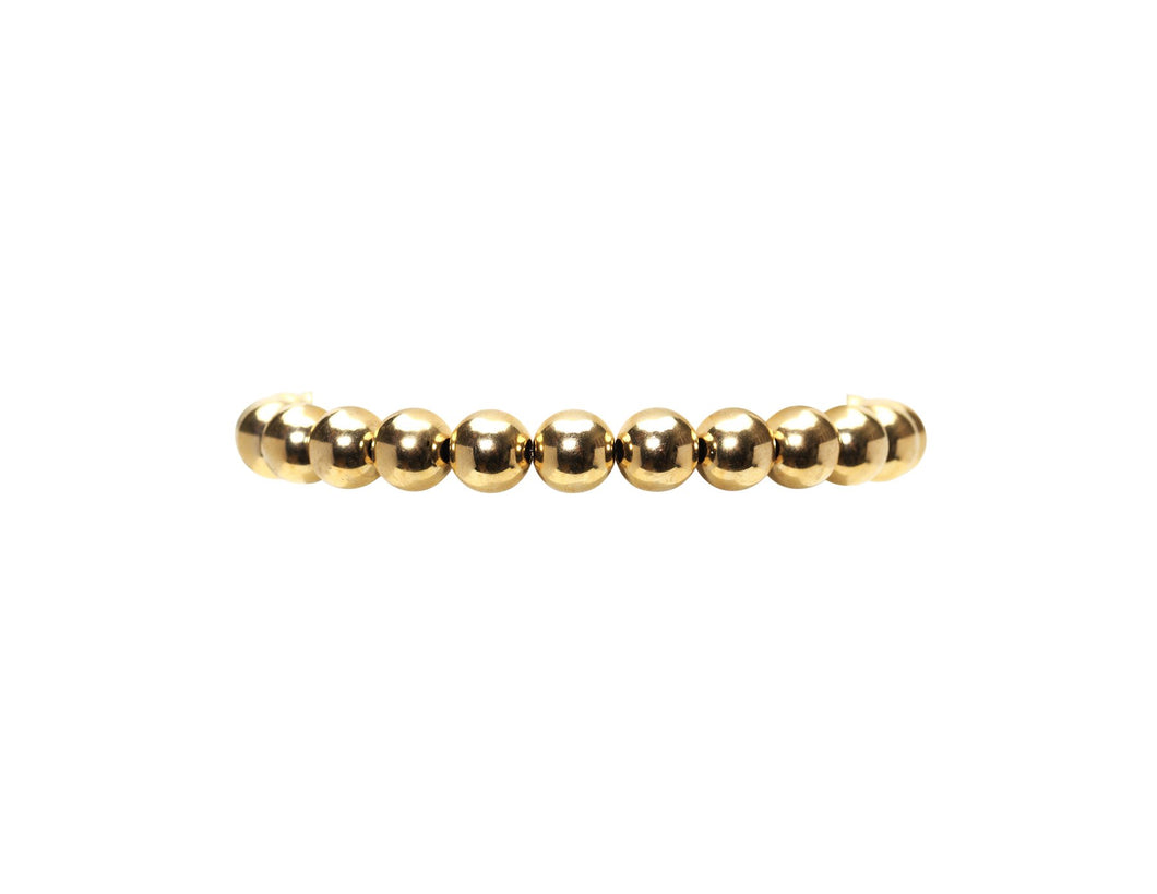 8mm Yellow Gold Filled Bracelet