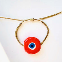 Apple Ceramic Evil Eye Bracelet