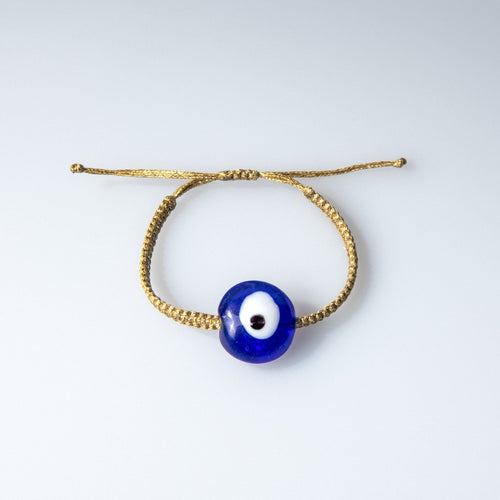 Blue Ceramic Evil Eye Bracelet