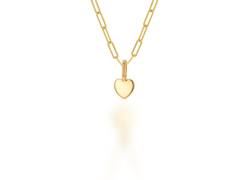 Mini Gold Heart Charm