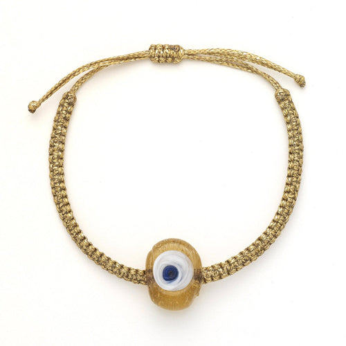 Caramel Glass Evil Eye bracelet