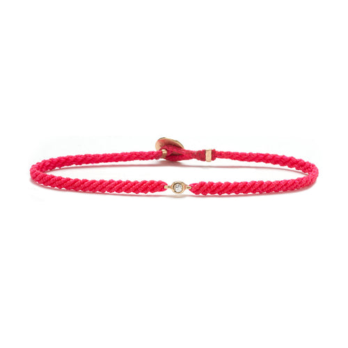Classic Fuchsia woven bracelet with diamond