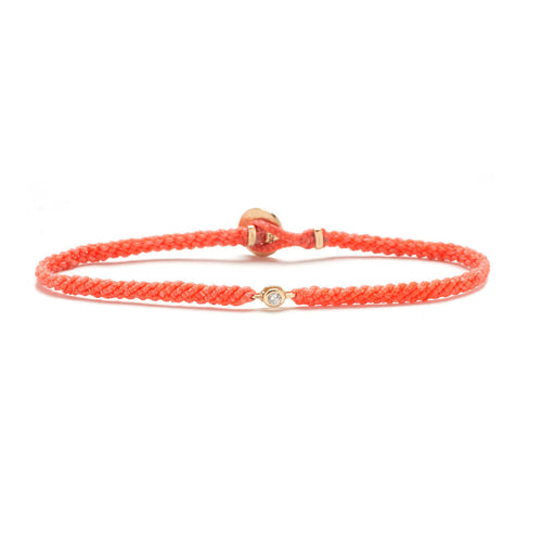 Classic Salmon woven bracelet with diamond