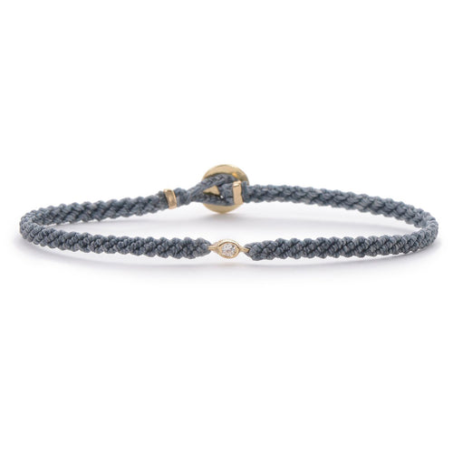 Classic grey woven bracelet with diamond
