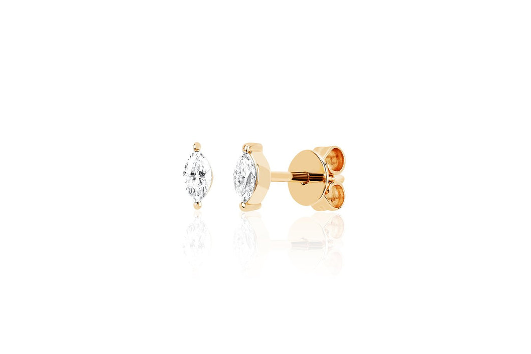 Diamond Marquis Stud Earring