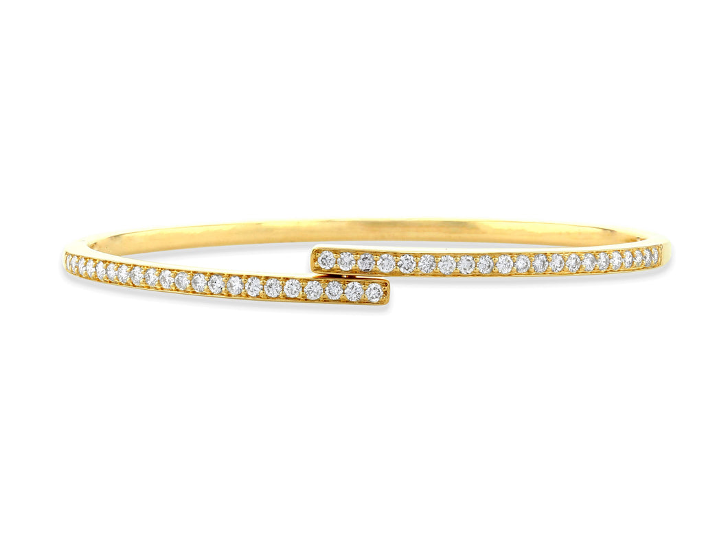 Diamond Bypass Bangle