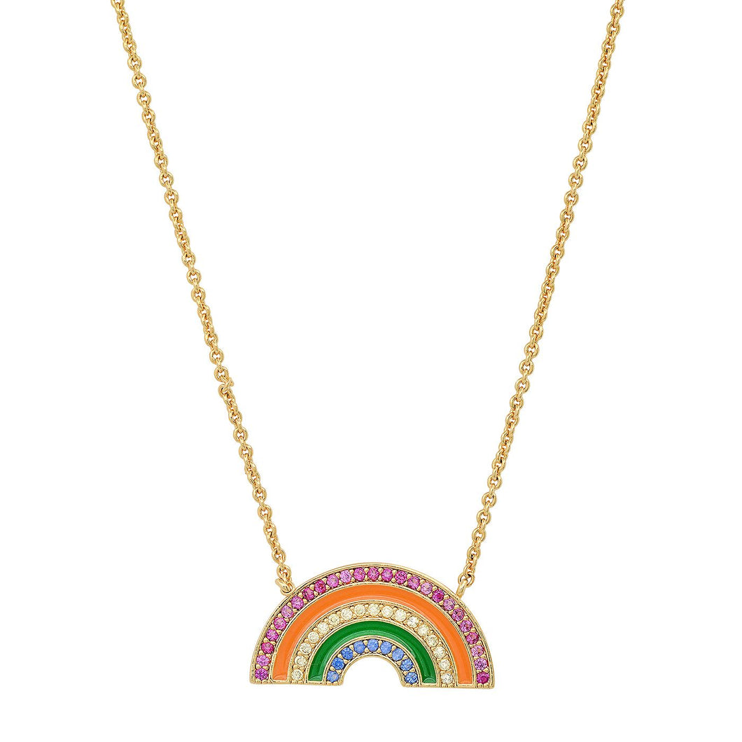Gold Vermeil Rainbow necklace