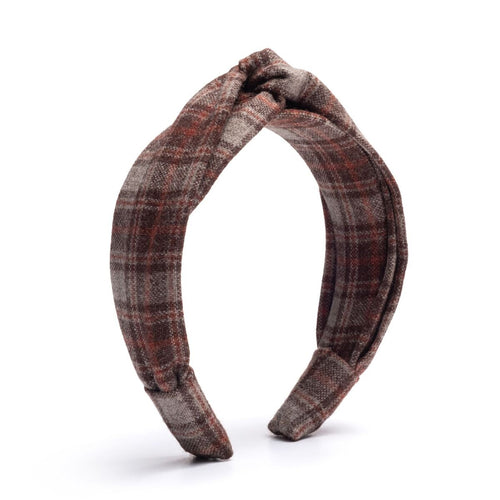 Dione Brown Plaid Headband