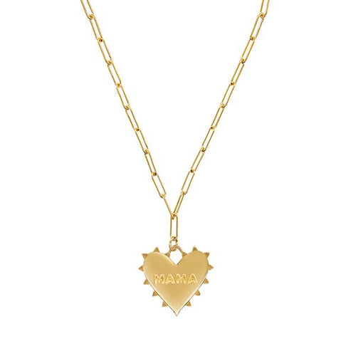 Radiant Heart Mama Charm Necklace