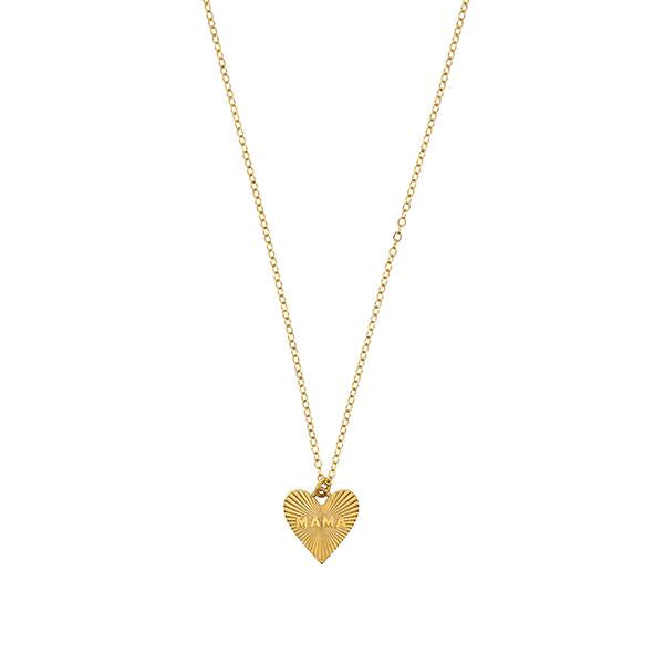 Dainty Heart Mama Necklace