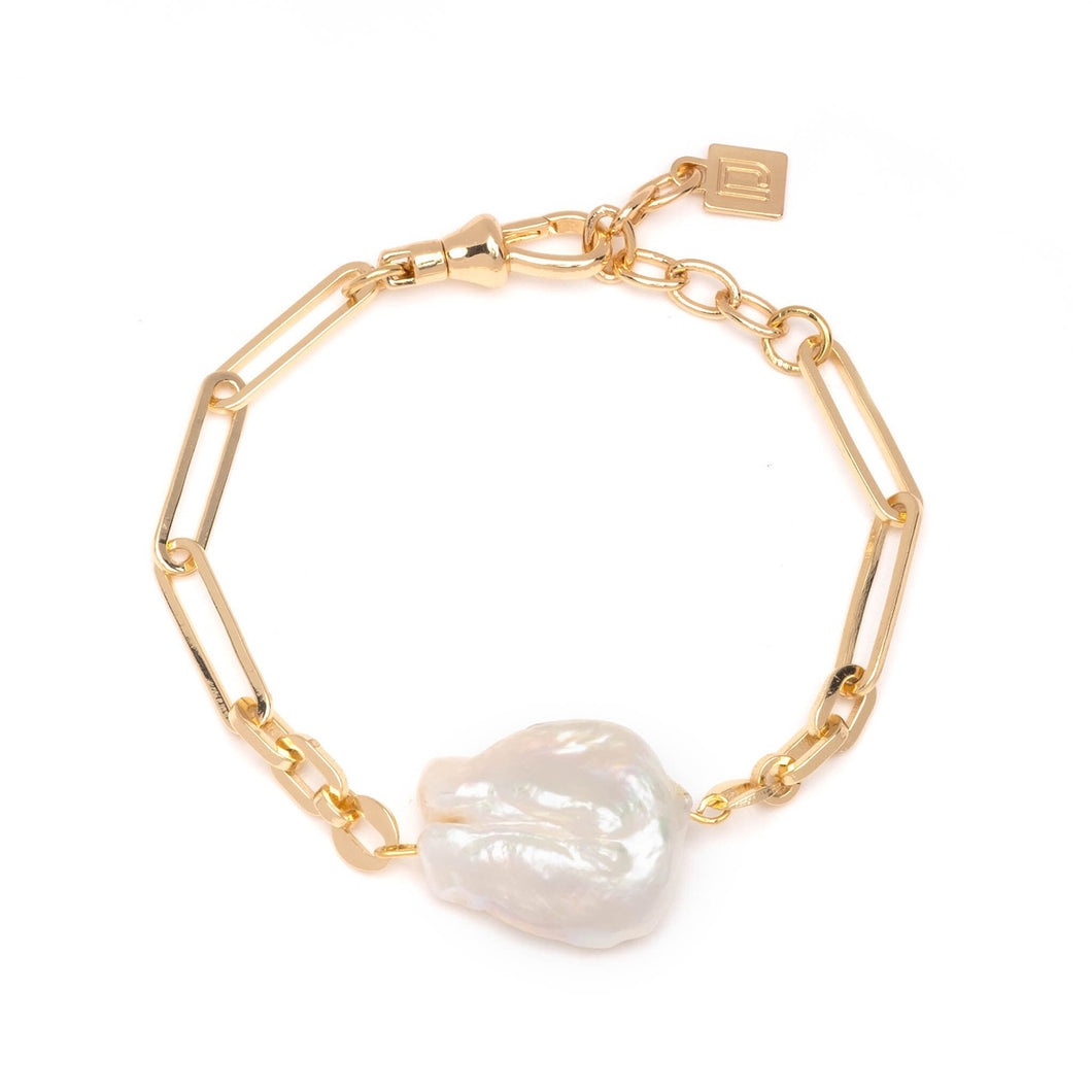 Helen pearl and chain bracelet