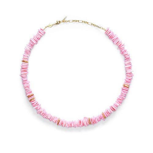 Pink Puka Necklace