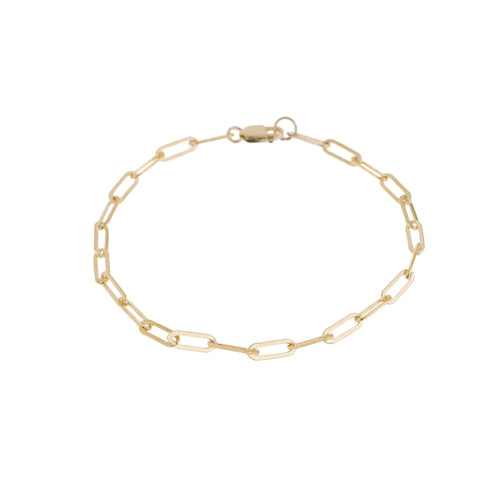 Micro Rectangle Chain Bracelet