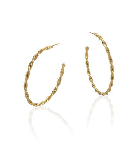 Medium Gold Twisted Hoop