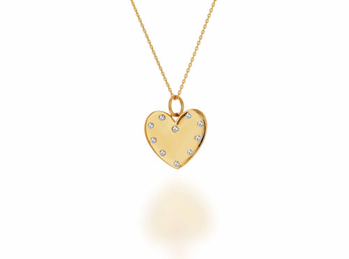 Personalized Diamond Heart Necklace