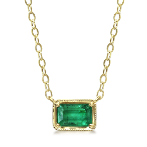 Leone Emerald Necklace
